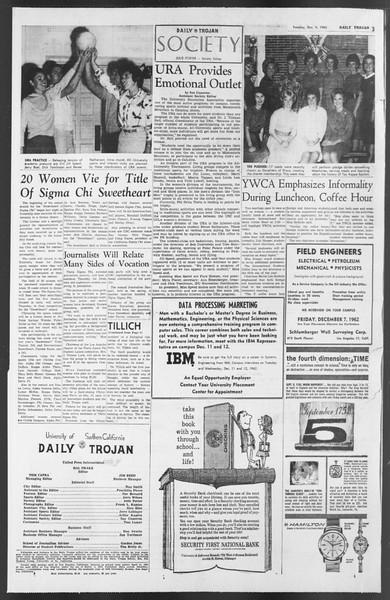 Daily Trojan, Vol. 54, No. 46, December 04, 1962