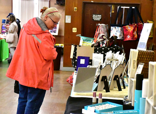 4/20/2019 Mike Orazzi | Staff June Mazeika while shopping during the Mum Festival's 2nd Annual Spring Fling Craft Fair held at the Bristol Polish American Club in Bristol on Saturday.