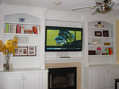 Builtin Bookcase Entertainment Center Wall