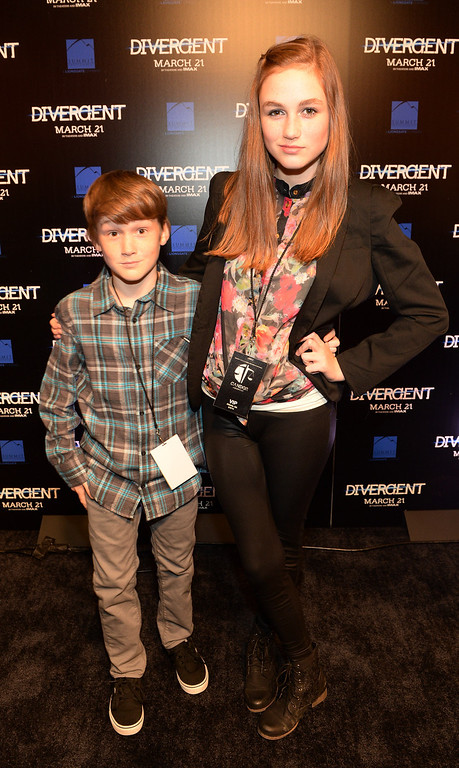 . Actors Matthew Lintz, Kill the Messenger and Madison Lintz, The Walking Dead make a personal appearance at Regal Atlantic Station on March 3, 2014 in Atlanta, Georgia.  (Photo by Rick Diamond/Getty Images for Allied-THA)