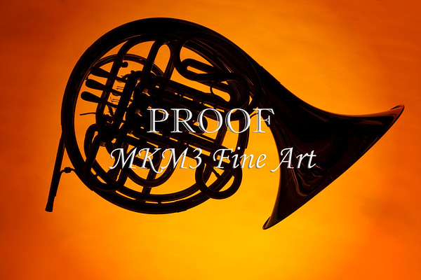French Horn Silhouettes