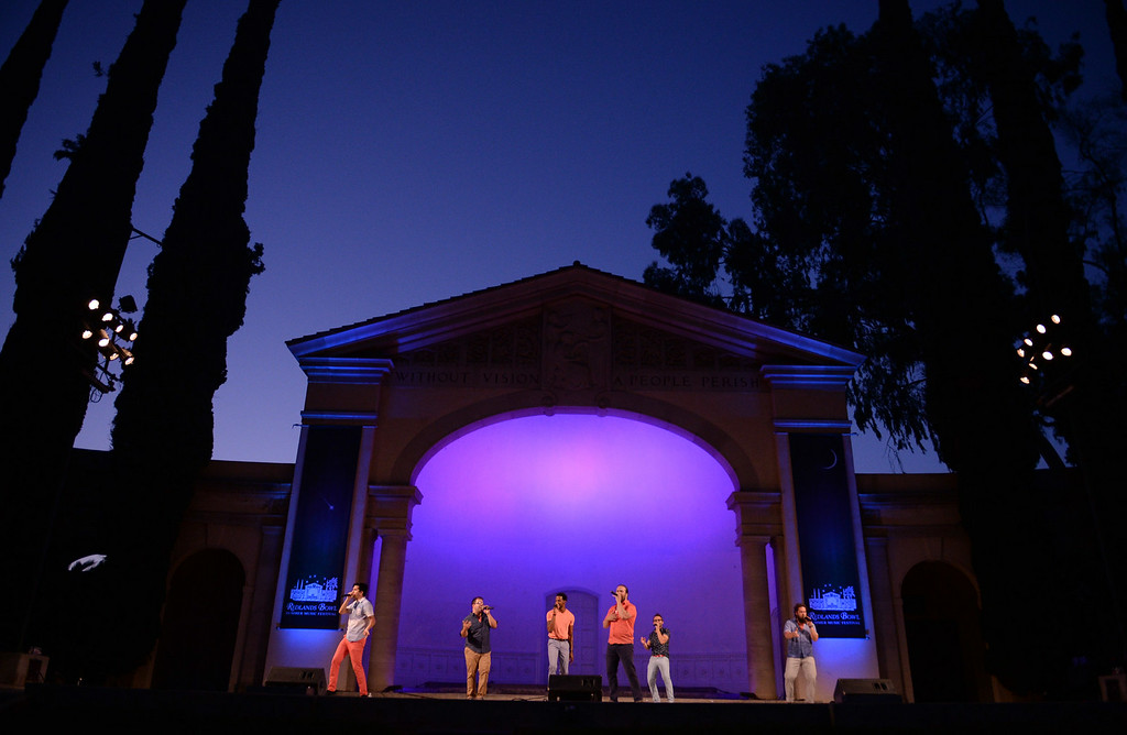 . Six Appeal performs at the Redlands Bowl on Tuesday, July 15, 2014 in Redlands, Ca. (Micah Escamilla/Redlands Daily Facts)