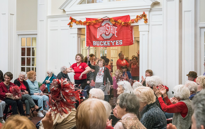 Shelley can adapt Script Ohio to just about any space
