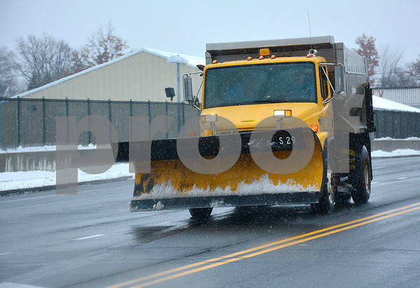 1/17/2018 Mike Orazzi   Staff A City of Bristol snowplow on the new Route 72 on clear roads Wednesday afternoon in Bristol.