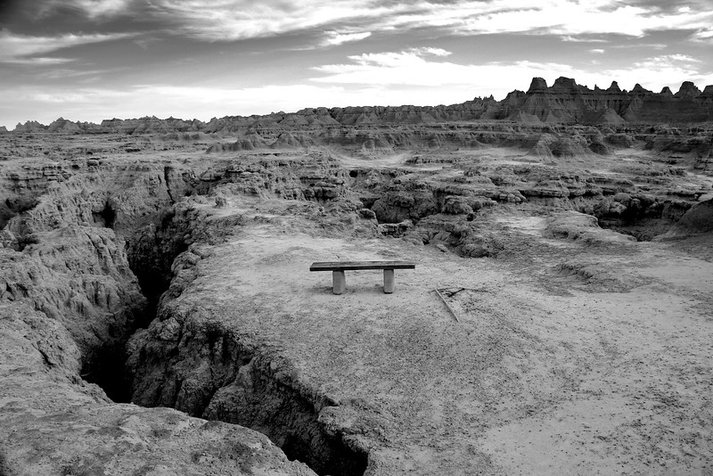 Badlands BW Bench.jpg