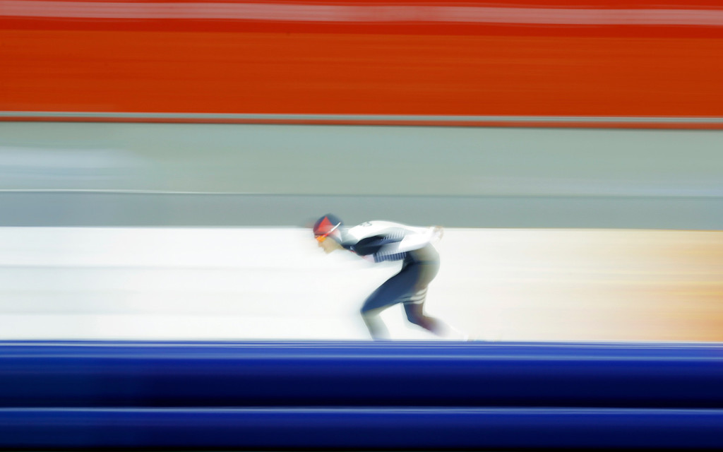 . Martina Sablikova of the Czech Republic skates her way to gold in the women\'s 5,000-meter speedskating race at the Adler Arena Skating Center during the 2014 Winter Olympics in Sochi, Russia, Wednesday, Feb. 19, 2014. (AP Photo/Matt Dunham)