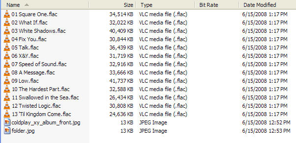FLAC Files before Conversion