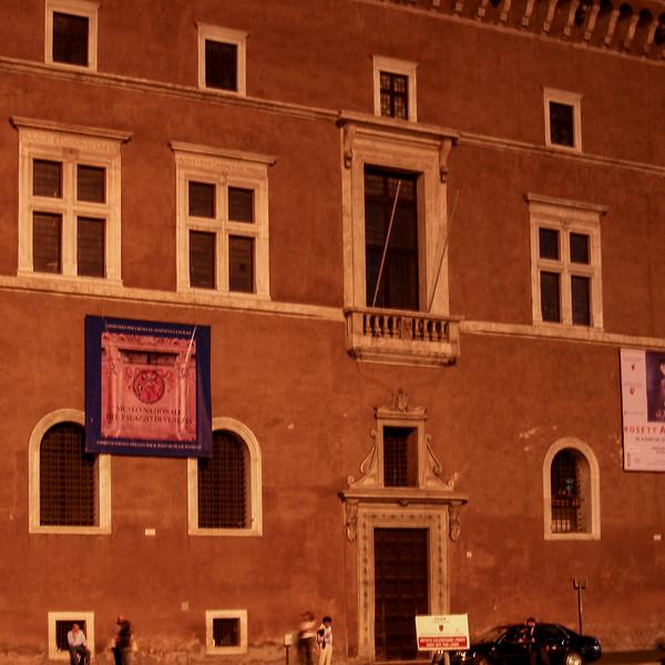 Mussolini's Balcony at Palazzo Venezia