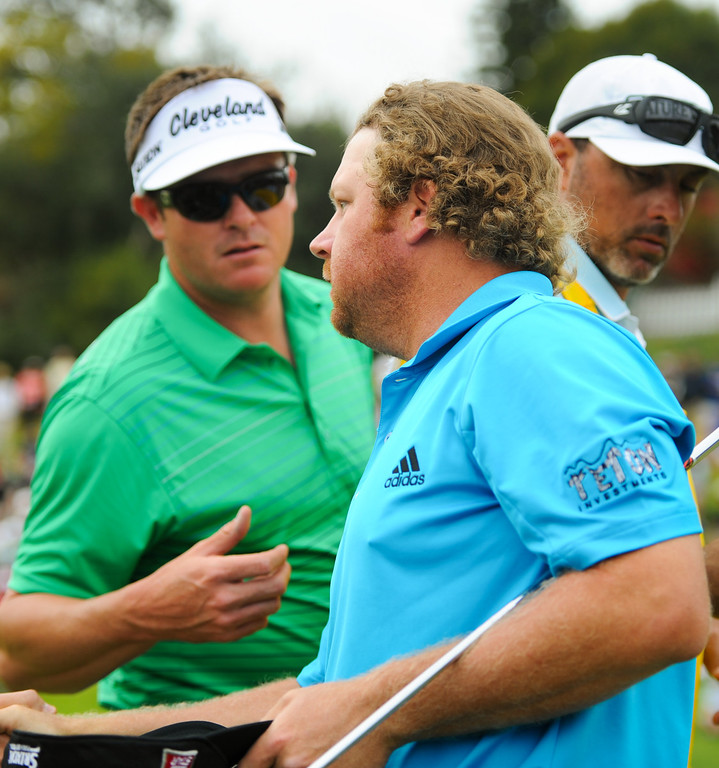. William McGirt finished the day leading by two strokes at the third round of the Northern Trust Open, Saturday, February 15, 2014, at Riviera Country Club. (Photo by Michael Owen Baker/L.A. Daily News)