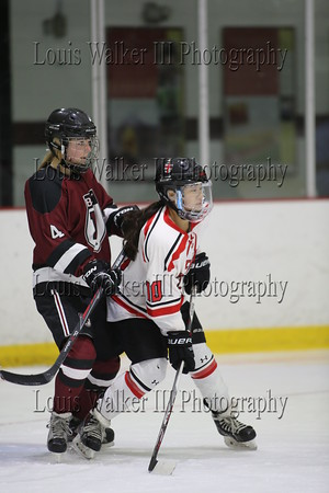 Hockey Girls St George's at Portsmouth Abbey on 1/25/16