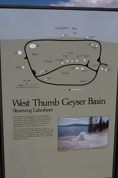 We visited the West Thumb Geyser Basin along the shore of Yellowstone Lake