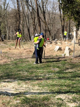 4.14.2018 Oella Cemetery Cleanup