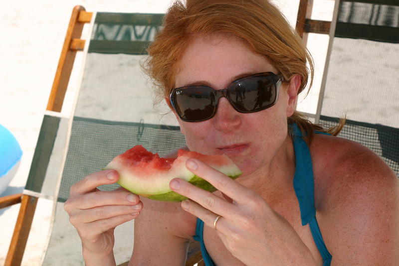 Mama loves watermelon, too.