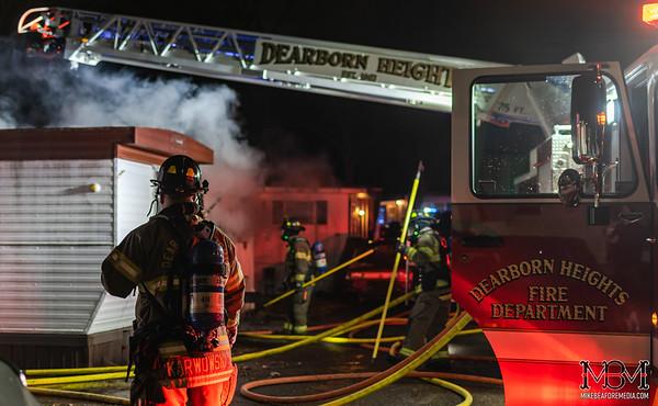 Dearborn Heights MI, Trailer Fire 3-16-2020