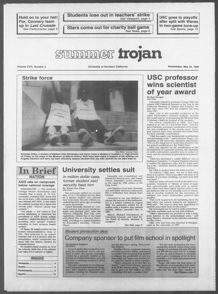 Summer Trojan, Vol. 109, No. 2, May 24, 1989
