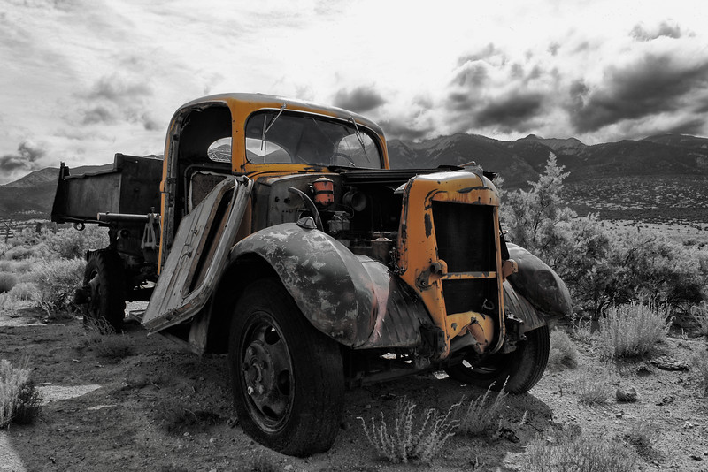 Old Truck and the Sangre De Cristo Mtns.