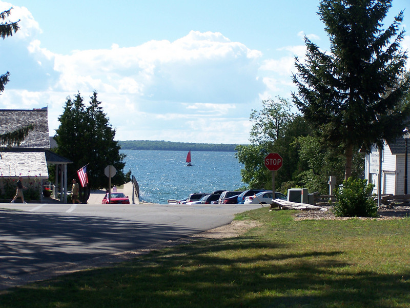View of Eagle Harbor and Anderson Dock in Ephraim
