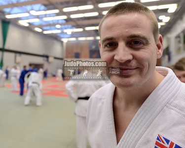 2013 Tonbridge Judo Training Camp 131220A5500: British coach and former British Champion, Luke Preston 37, at the Tonbridge International Judo Tra....