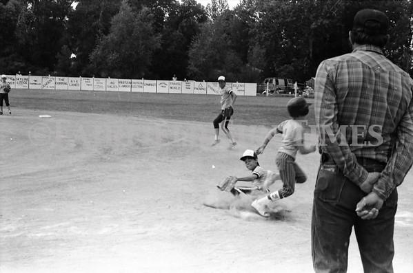 1986 July Fairfield Power Augusta Mtn Valley Little League in Choteau