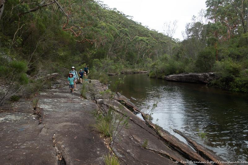 Walking up Kangaroo Creek to Karloo Pool