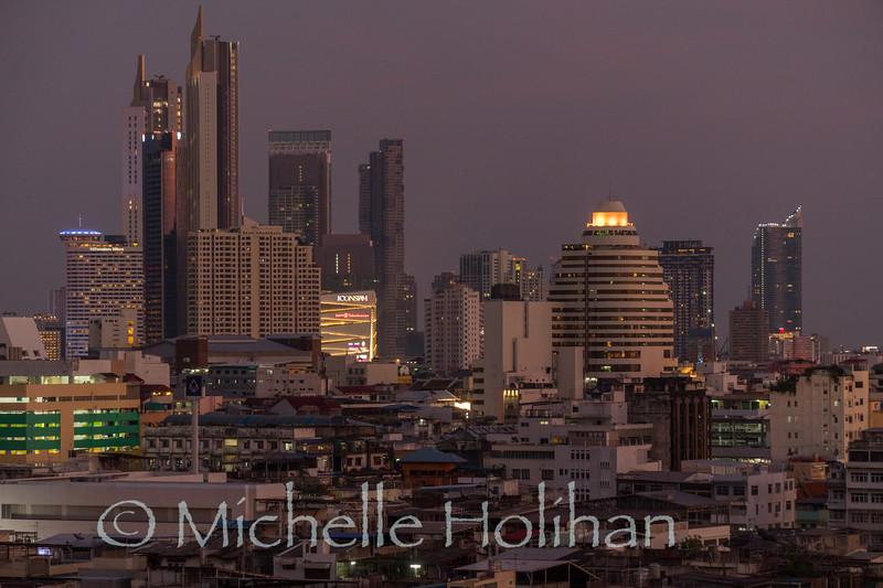 Sunset from Golden Mount, Bangkok, Thailand
