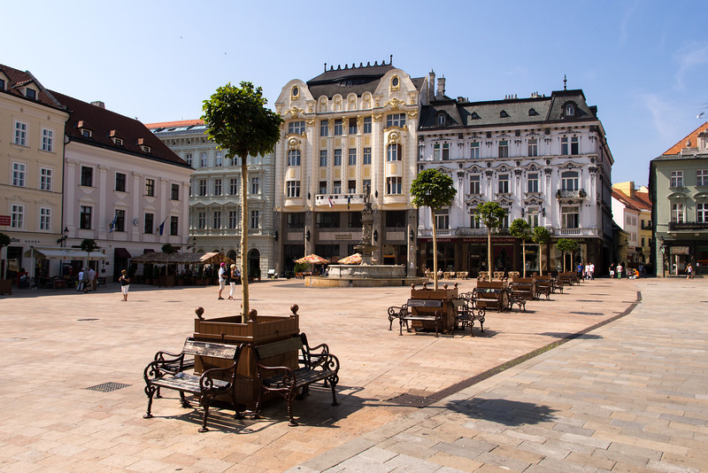 Old town square, Bratislava, Slovakia