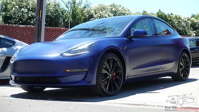 Tesla Model 3 - Stealth Deep Blue Metallic 3