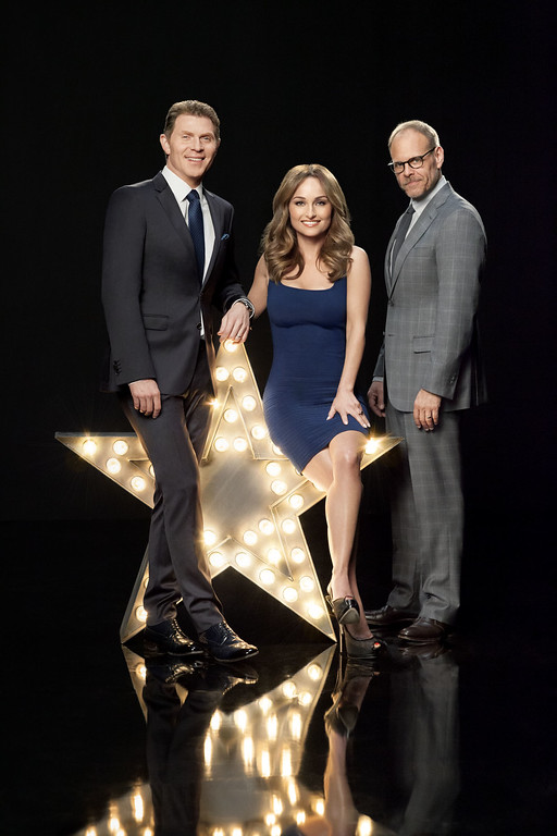 . Food Network Star Mentors Bobby Flay, Giada De Laurentiis and Alton Brown (PRNewsFoto/Food Network)