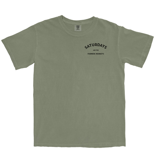 Organ Mountain Outfitters - Outdoor Apparel - Mens T-Shirt - Saturdays are for Farmers Markets Tee - Sage Front.jpg