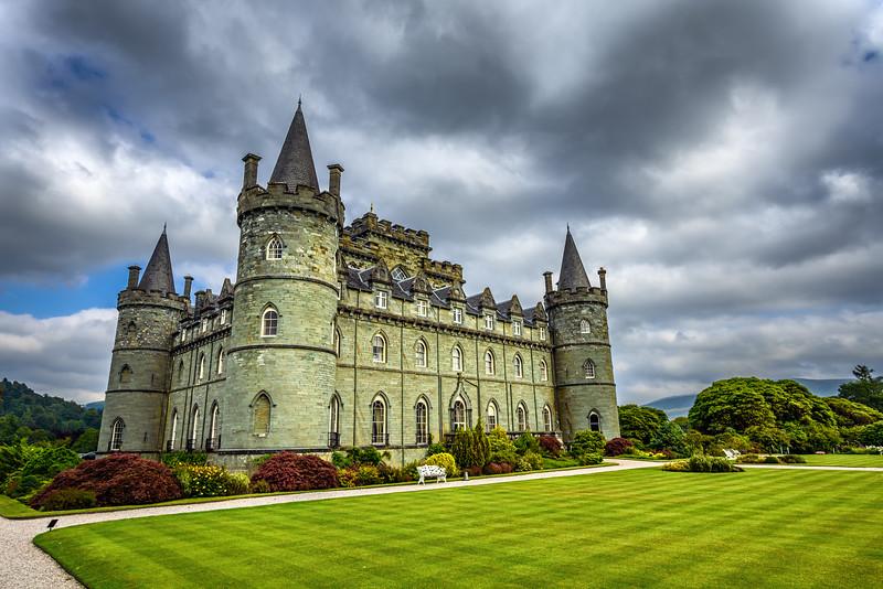 Inveraray Castle in western Scotland, United Kingdom