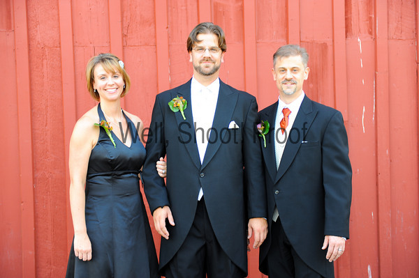Groom's Family Barn Portraits