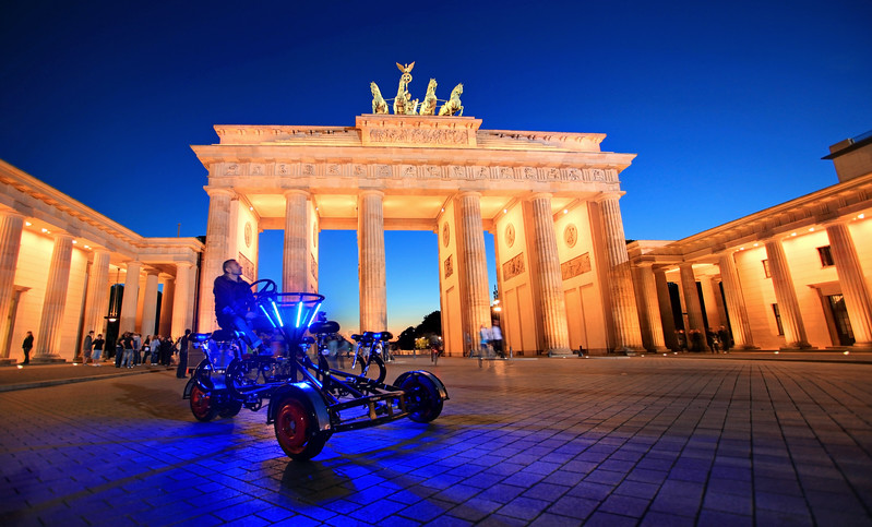 This is the Brandenburg Gate. It once separated West Germany from Socialist East Germany. Many people that attempted to cross were shot...much blood was shed here. Today it has been revitalized and is an extremely popular tourist destination.