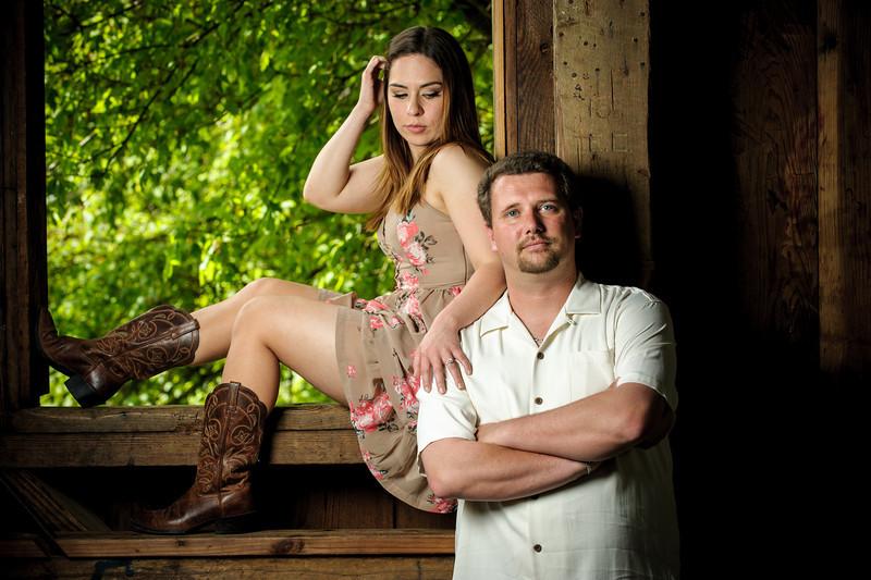 Tony and Danielle (Engagement Photography, Covered Bridge Park and Loch Lomond, Felton, California)