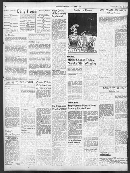Daily Trojan, Vol. 32, No. 59, December 10, 1940