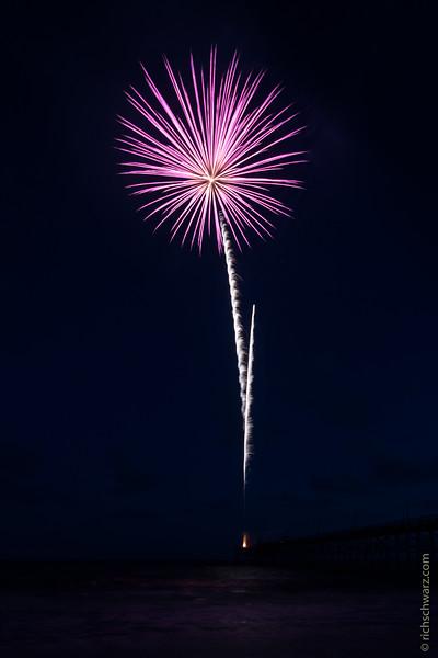 Oak Island Fireworks