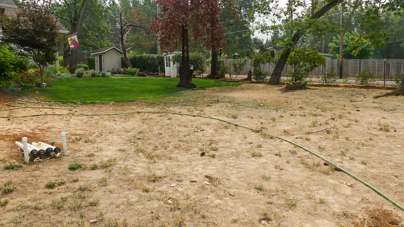 dry dry pasture with soil hard as cement