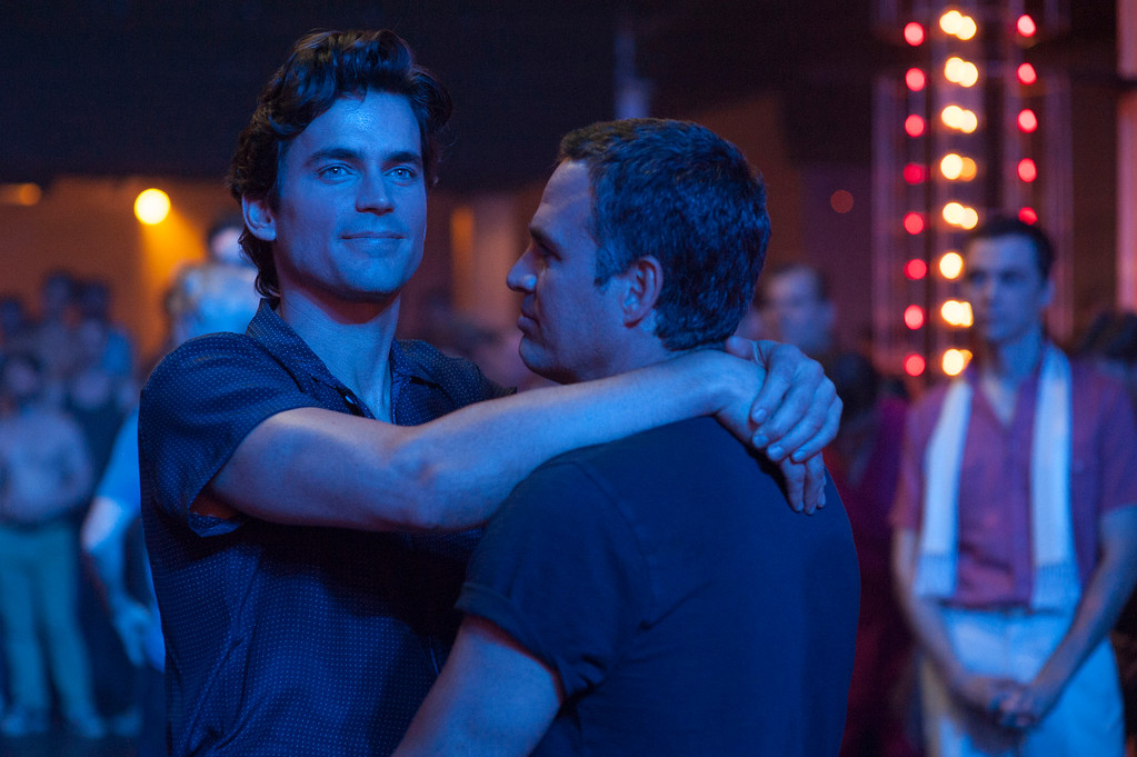 """. In this image released by HBO, actors Matt Bomer, left, and Mark Ruffalo appear in a scene from \""""The Normal Heart.\"""" The show was nominated for a Golden Globe for best TV movie or mini-series on Thursday, Dec. 11, 2014. The 72nd annual Golden Globe awards will air on NBC on Sunday, Jan. 11. (AP Photo/HBO)"""