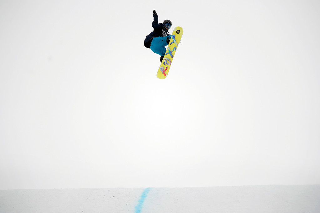 . ASPEN, CO - January 26: Kjersti Oestgaard Buaas, of Trondheim, Norway, takes off from the final jump at the Winter X Games Aspen 2013 at Buttermilk Mountain on Jan. 26, 2013, in Aspen, Colorado. Oestgaard Buaas finished sixth overall. (Photo by Daniel Petty/The Denver Post)