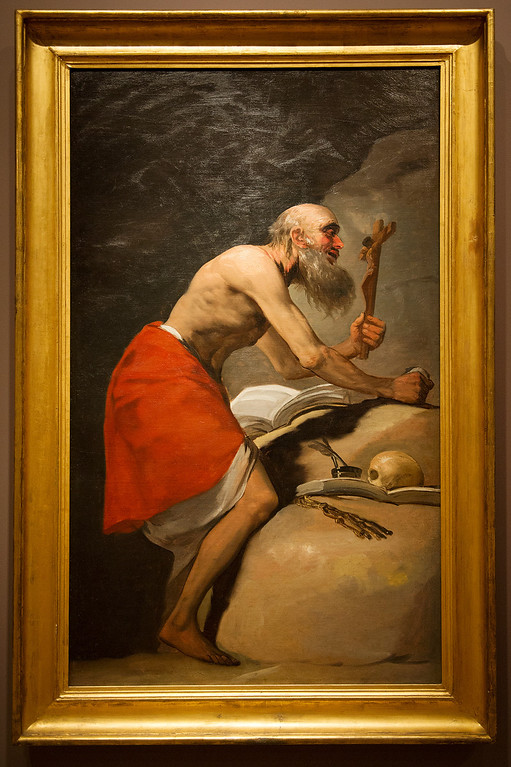 . Francisco de Goya y Lucientes (Spanish, 1746-1828) St. Jerome in Penitence, 1798 Oil on canvas