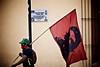 A communist activist in Oaxaca, Mexico, protests the recent election of President Enrique Peña Nieto.