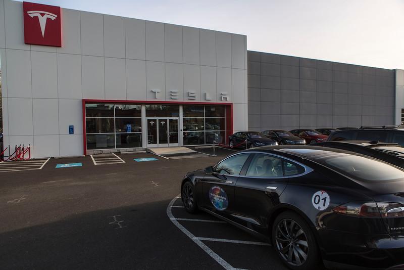 Aaron Shildkraut's Model S with Williamsburg TeslaRoadTrip Graphics