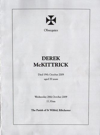 Derek McKittrick Funeral Service 28 Oct 2009