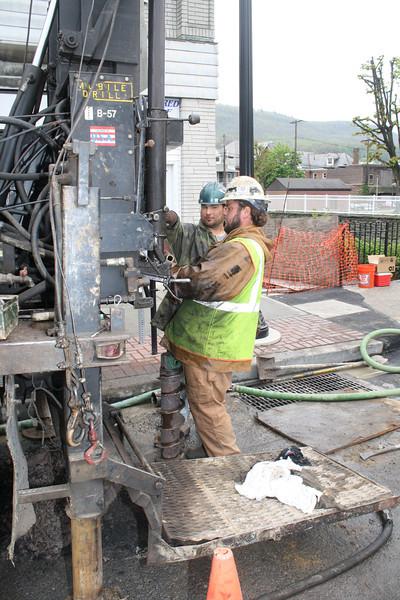 Ground Testing for E. Broad Street Bridge, Tamaqua (4-26-2012)