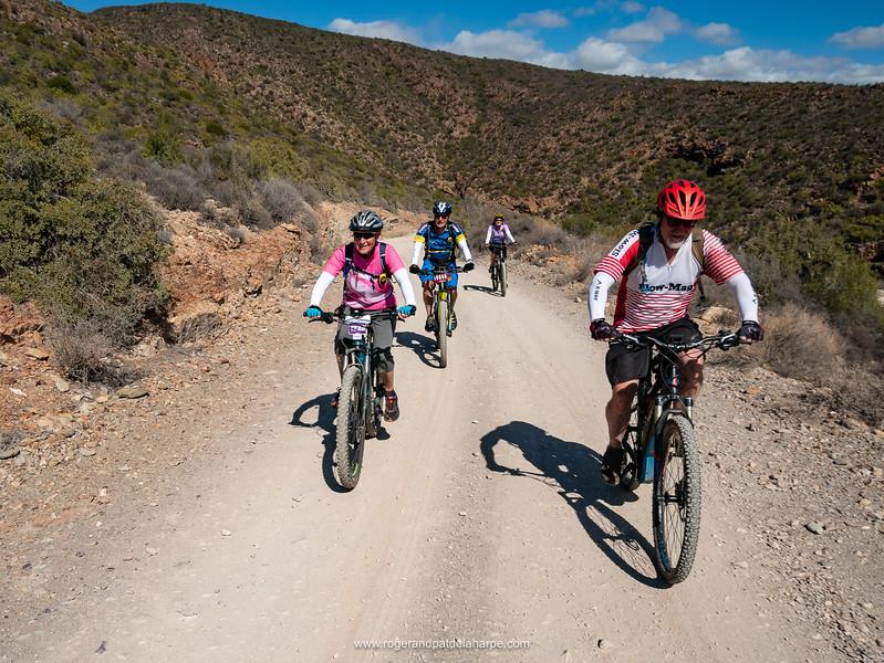 Tony, Joy, Dave and Sue on the climb up Rooiberg Pass.