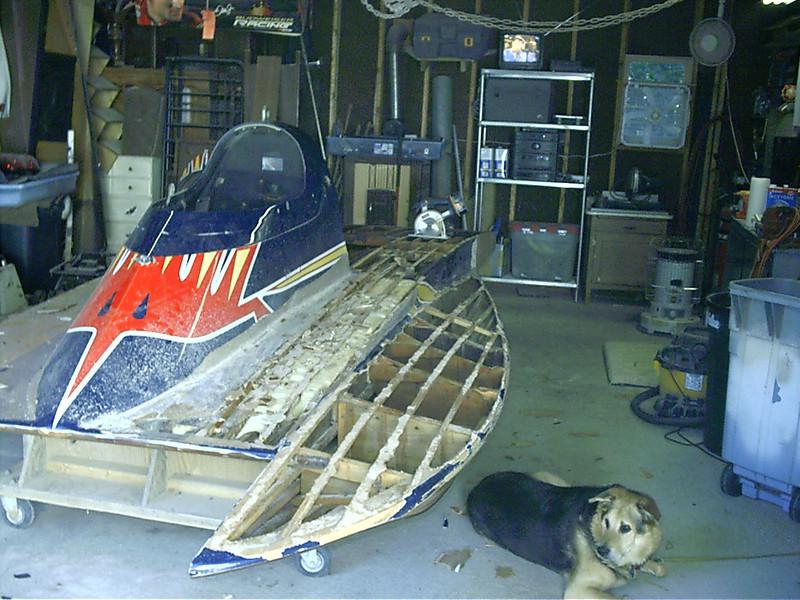 Port side deck removed.