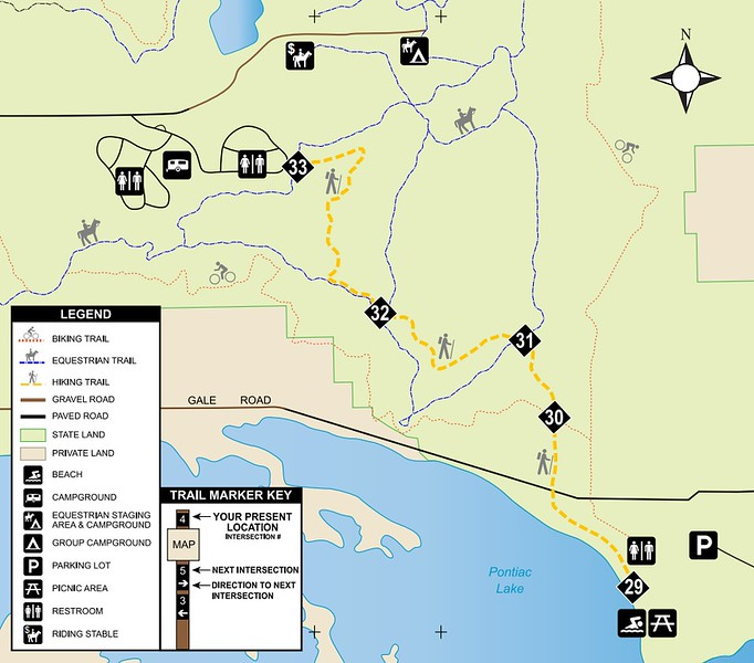 Pontiac Lake Recreation Area (Trail Map)