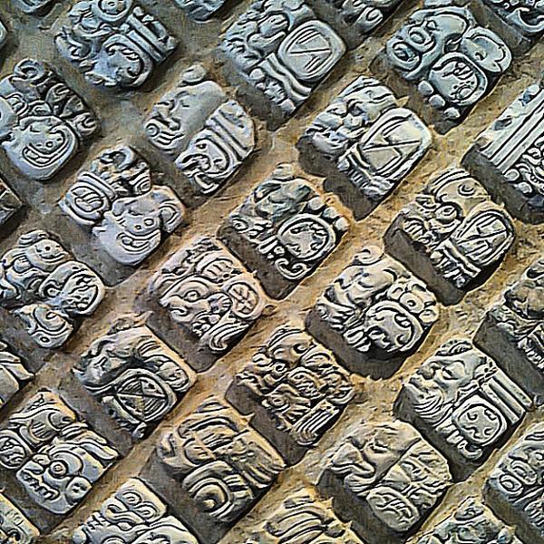 Mayan glyphs, Palenque #Chiapas #Mexico