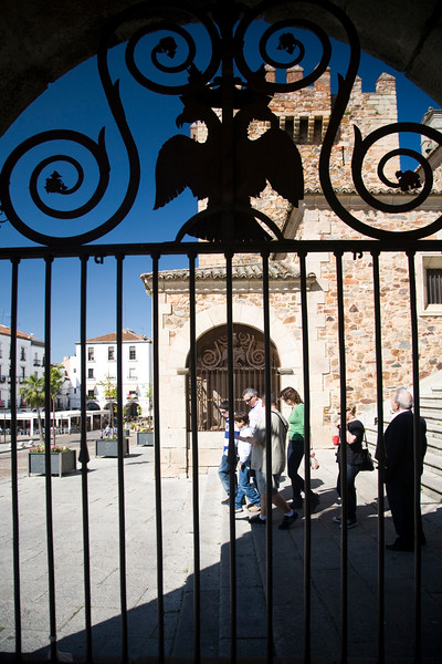 Grille, Plaza Mayor, Caceres, Spain
