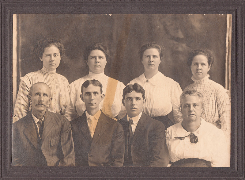 Sullivan Family - back left to right - Mary, Edith Myrtly & Hazel - front - Charles, Otis Seward & Hannah-2.jpg