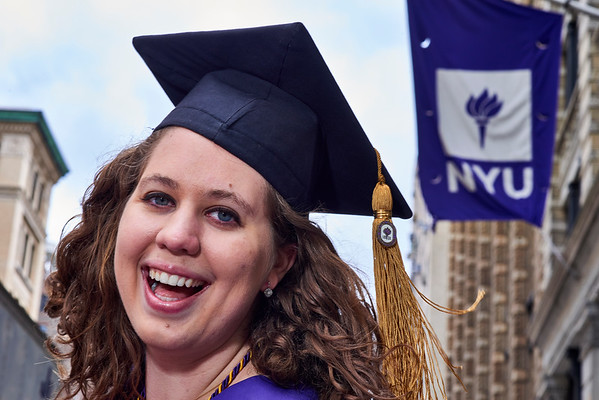 Melissa NYU Cap and Gown Washington Square Park